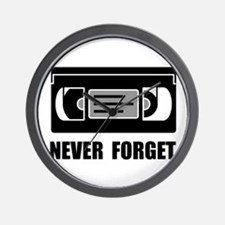 VCR Tape Never Forget Wall Clock