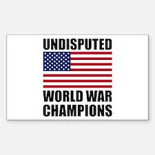World War Champions Decal
