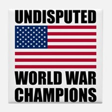 World War Champions Tile Coaster