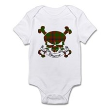 Skene Tartan Skull Infant Bodysuit