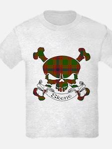 Skene Tartan Skull T-Shirt