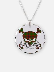 Skene Tartan Skull Necklace