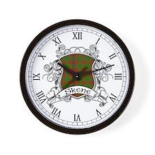 Skene Tartan Shield Wall Clock