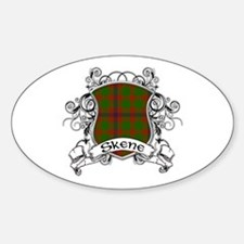 Skene Tartan Shield Sticker (Oval)