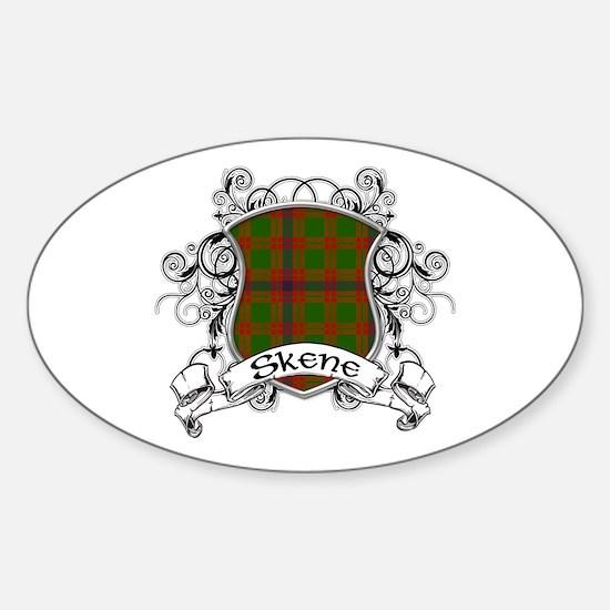 Skene Tartan Shield Sticker (Oval)