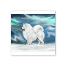 "Samoyed Square Sticker 3"" x 3"""