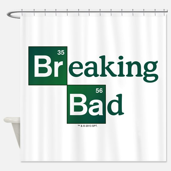 Breaking Bad Logo Shower Curtain