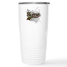 Skene Tartan Grunge Travel Coffee Mug