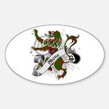 Skene Tartan Lion Sticker (Oval)