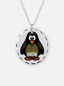 Skene Tartan Penguin Necklace