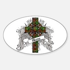 Skene Tartan Cross Sticker (Oval)