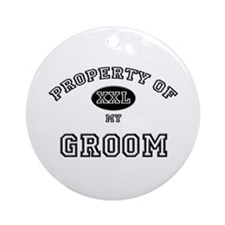 Property of my GROOM Ornament (Round)