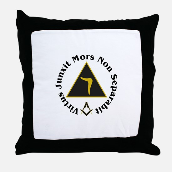 Funny Scottish rite Throw Pillow