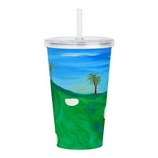 Golf Art Acrylic Double-Wall Tumbler