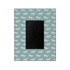 Blue Galloping Horse Pattern Picture Frame