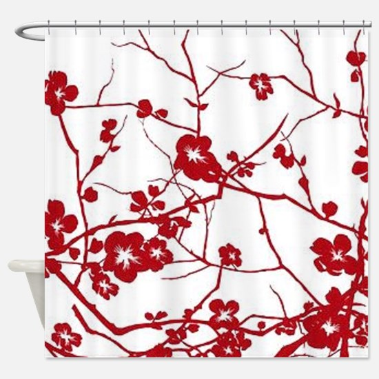 Funny Cherry blossom Shower Curtain