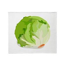 Lettuce Head Throw Blanket