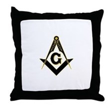 Cute Freemason Throw Pillow