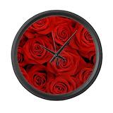 Red rose decor Giant Clocks