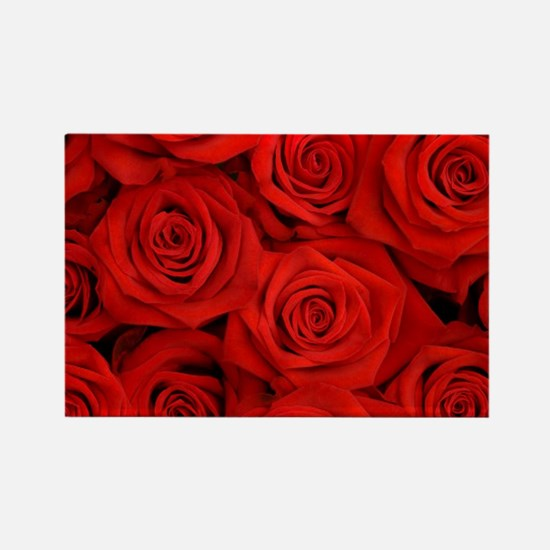 modern romantic red rose petals Magnets