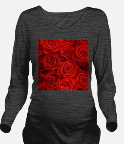 Funny Rose Long Sleeve Maternity T-Shirt