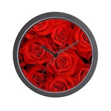 Cute Red roses Wall Clock
