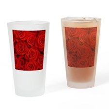 Cute Rose Drinking Glass