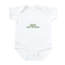 crazy about vegetables Infant Bodysuit