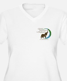 V-Neck Plus Size T-Shirt With Logo In White