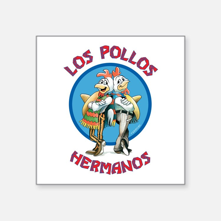 "Los Pollos Hermanos Square Sticker 3"" x 3"""