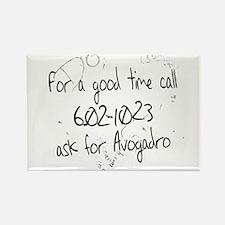 Avogadro Graffiti Rectangle Magnet
