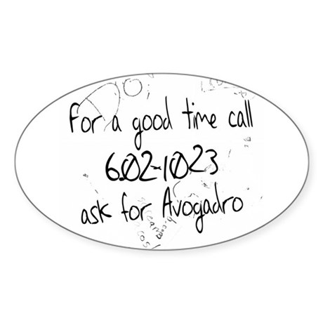 Avogadro Graffiti Oval Sticker