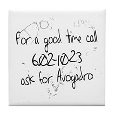 Avogadro Graffiti Tile Coaster