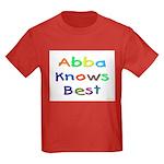 Jewish Abba Knows Best Kids Dark T-Shirt