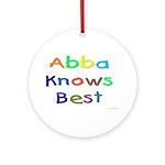 Jewish Abba Knows Best Ornament (Round)