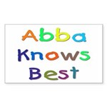 Jewish Abba Knows Best Rectangle Sticker