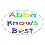 Jewish Abba Knows Best Oval Sticker