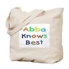Jewish Abba Knows Best Tote Bag