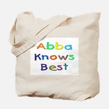 Jewish Abba Knows Best Tote Bag