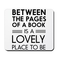 Between pages of book Mousepad