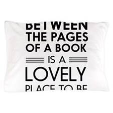Between pages of book Pillow Case