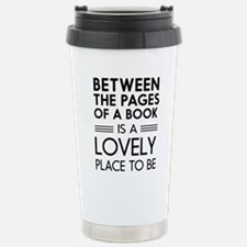 Between pages of book Travel Mug