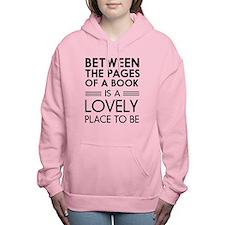 Between pages of book Women's Hooded Sweatshirt