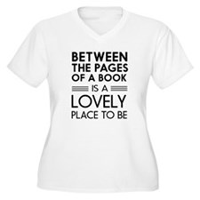 Between pages of book Plus Size T-Shirt