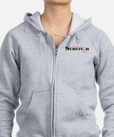 Cute Breast cancer survivor Zip Hoodie