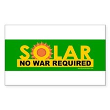 solarnowarreq_bumper Decal