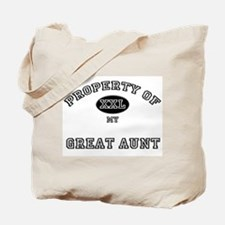 Property of my GREAT AUNT Tote Bag