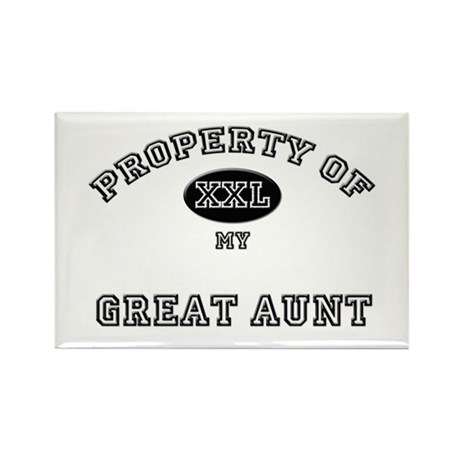 Property of my GREAT AUNT Rectangle Magnet (10 pac