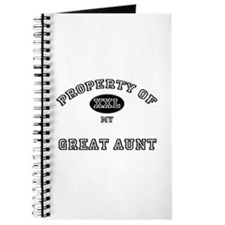 Property of my GREAT AUNT Journal
