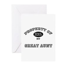 Property of my GREAT AUNT Greeting Cards (Package
